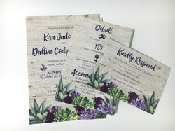 Succulents Wedding Invitation