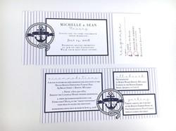 Nautical Yaht Boarding Pass Invite