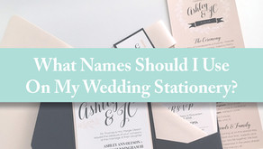 What Names Should I Use On My Wedding Stationery?