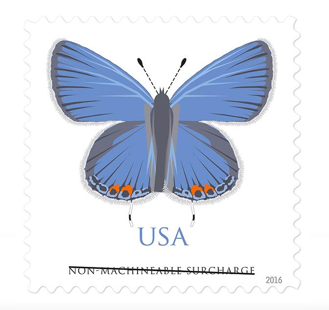 Non-Machineable Stamp - Wedding Invitation Stamps, Cedar Rapids Iowa, EmDesign