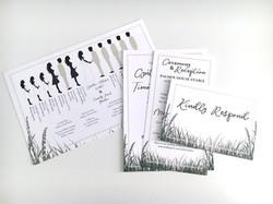 Boho Grasses Invitation Suite
