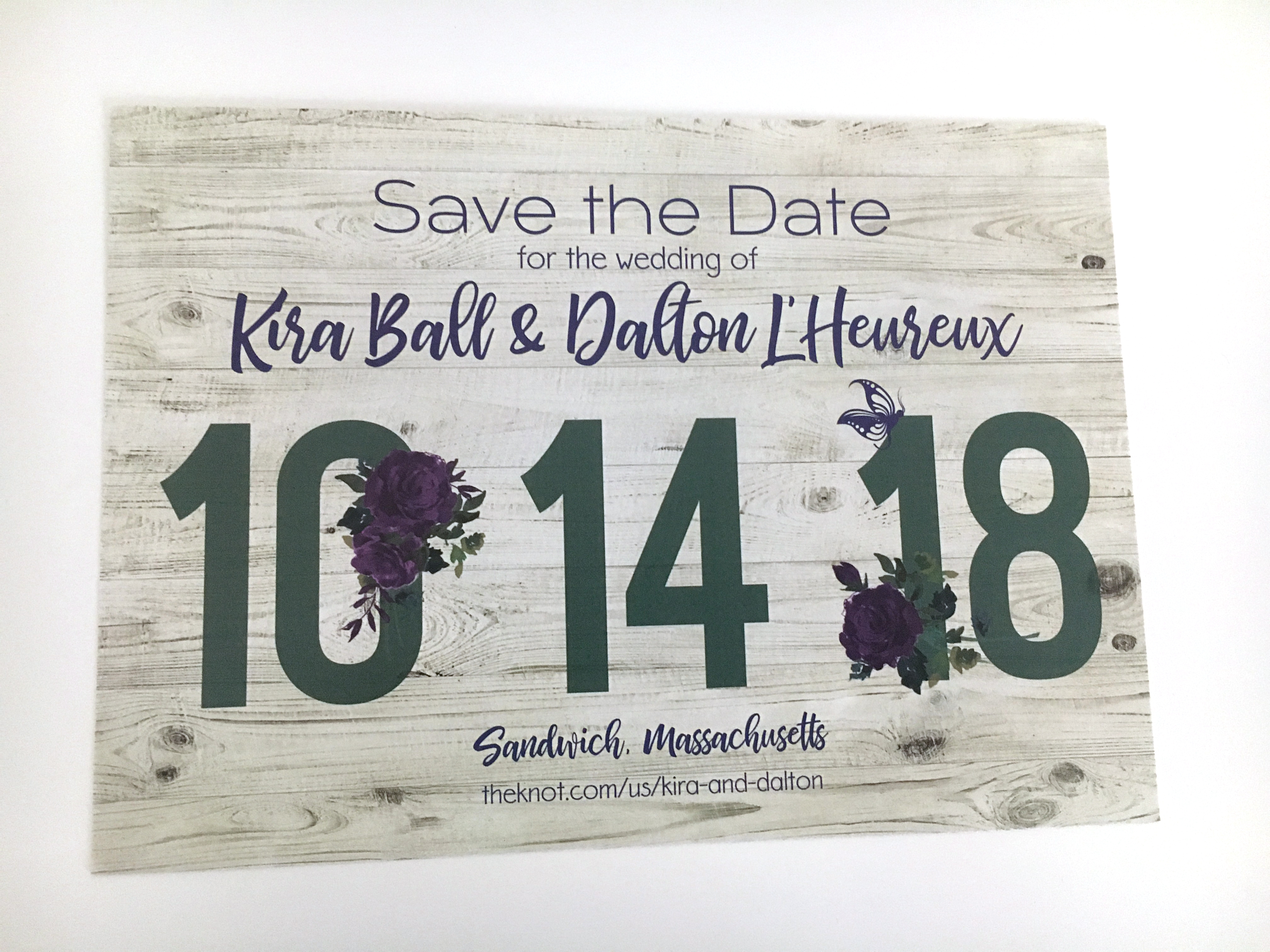 Succulents Save the Date