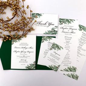 Winter Evergreen Invitation Suite