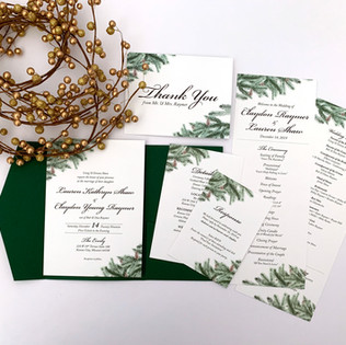 Winter Evergreen Invitation Suite