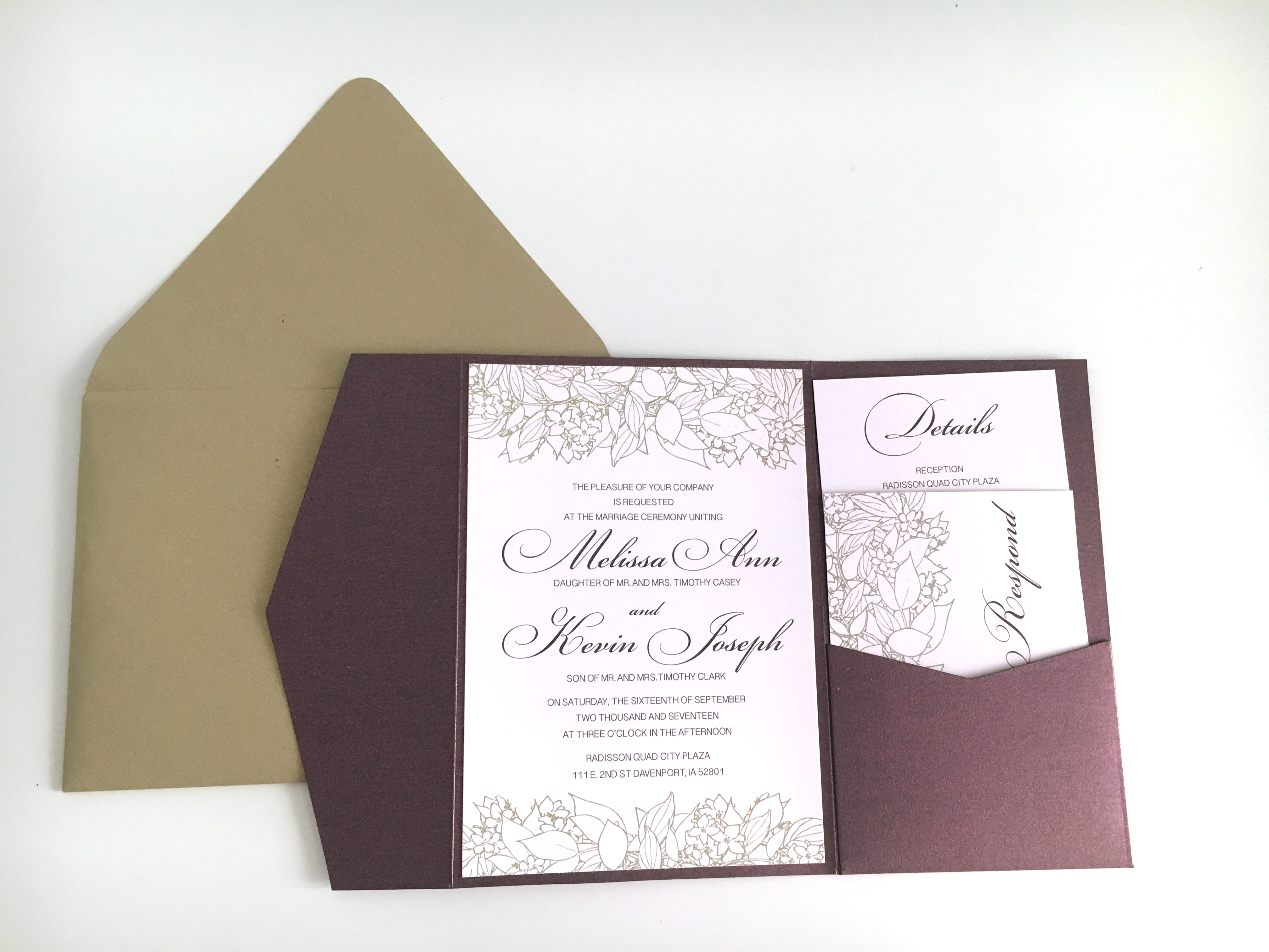 Blosoms Pocketfold Invitation