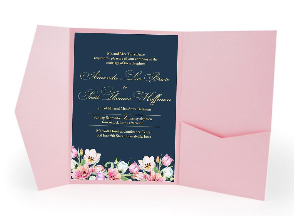 Iowa City Iowa Wedding Invitation Suite Custom