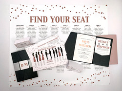 Rose Gold Foil Invitation Suite
