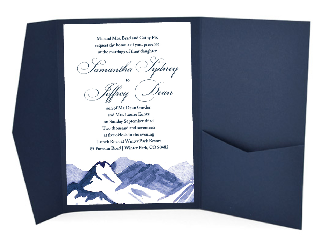 Mountain Ski Resort Wedding