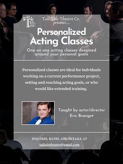 Personalized Acting Class - Workshop Pos