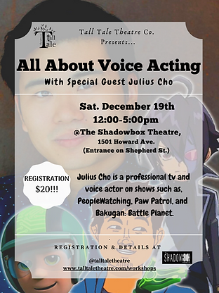 All About Voice Acting - Workshop Poster