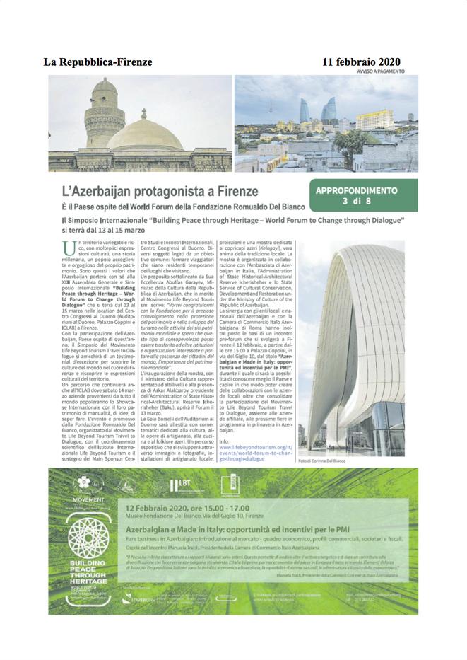 La Repubblica di Firenze, February 11, 2020