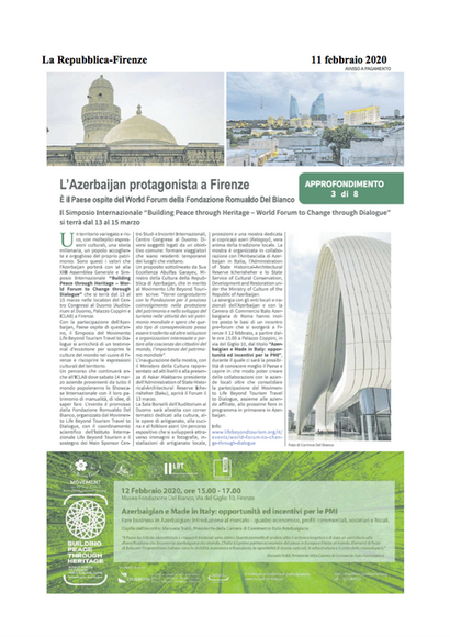 La Repubblica di Firenze, February 11, 2020