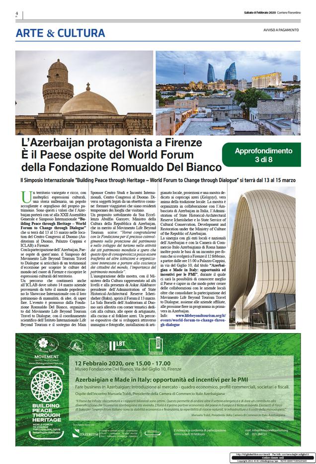Il Corriere Fiorentino, February 8, 2020