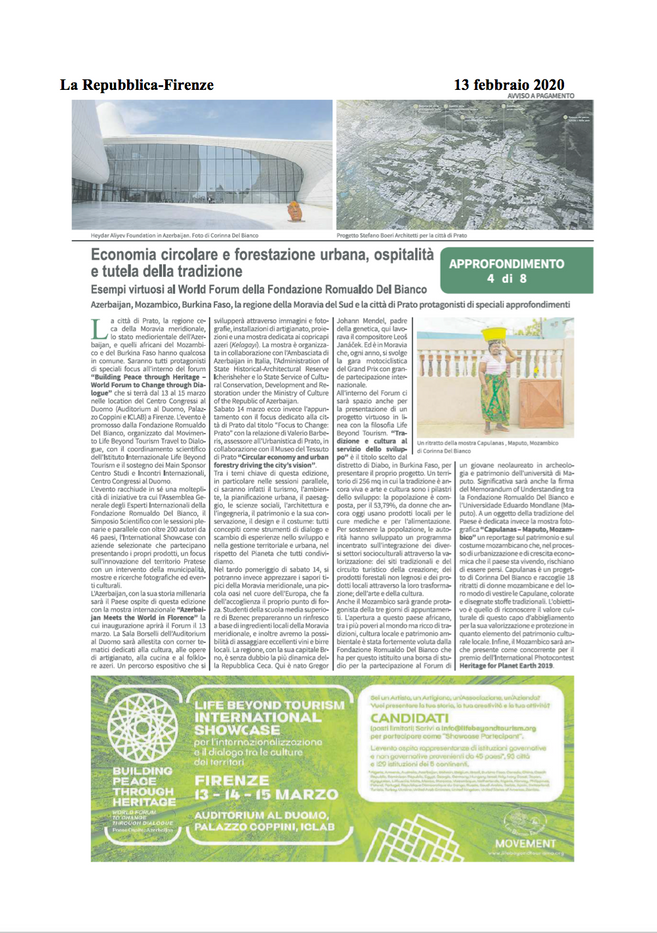 La Repubblica di Firenze, February 13, 2020