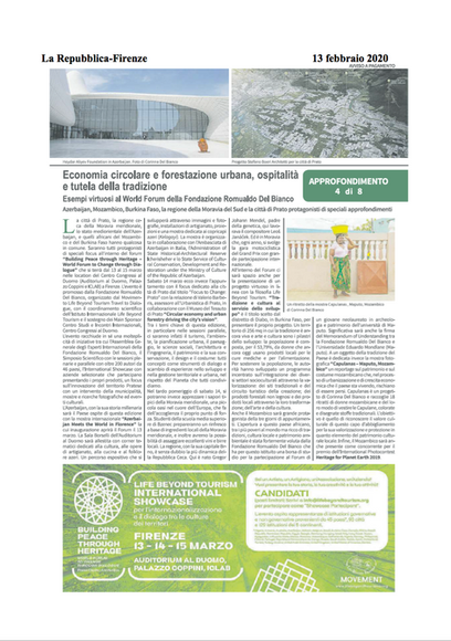 La Repubblica di Firenze, February 13, 2020
