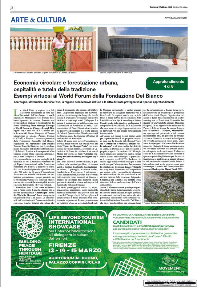 Il Corriere Fiorentino, February 9, 2020
