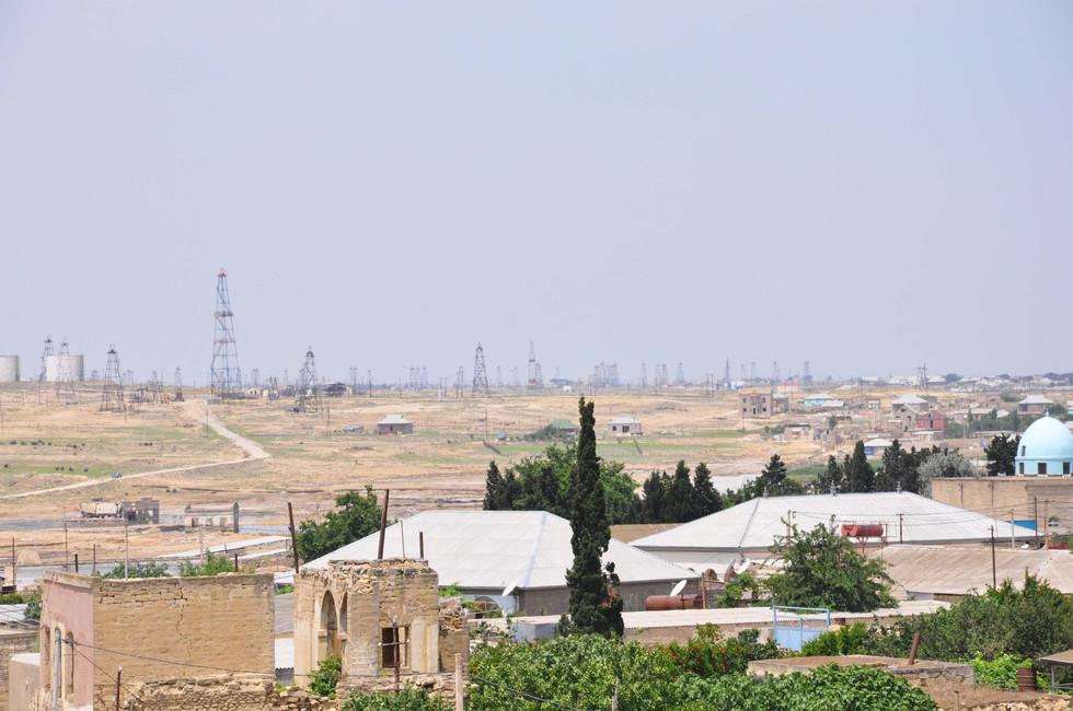 Petrol landscape, Azerbaijan