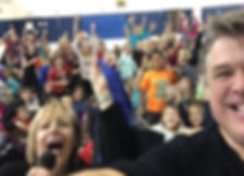 karen and darrin school visit selfie