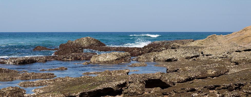 Kust Indische Oceaan bij St. Lucia
