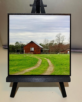 Limited Run 5x5: Red Barn Country Road Home