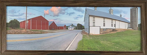 Red and White Barn (9x24 Framed)