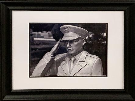 B&W Soldier (20x24 Framed)