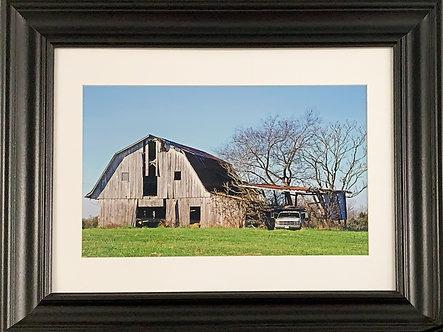 Culpeper Barn & Truck (8x12  Print w/Styrene Backing)