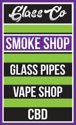 Glass Co. Smoke Shop Sign