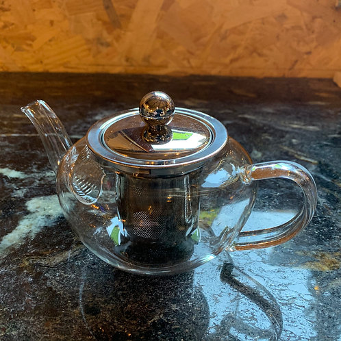 Glass Stainless Steel teapot