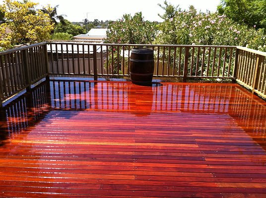 washed down deck