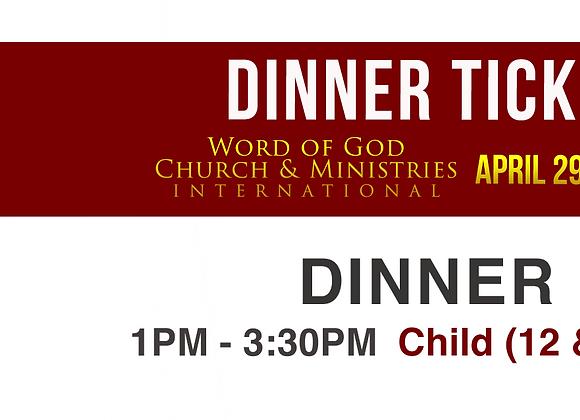 Child's Dinner Ticket