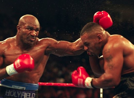 """Mike """"Iron"""" Tyson vs. Evander """"The Real Deal"""" Holyfield I"""