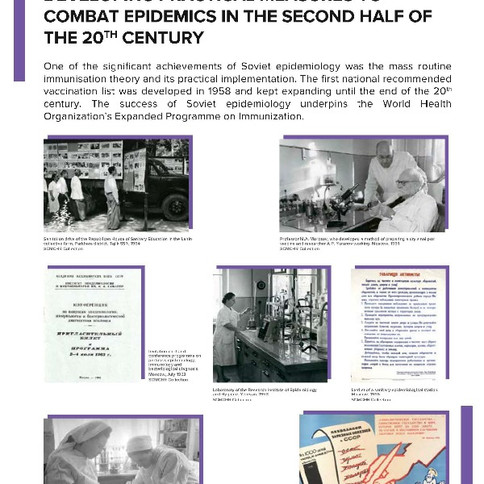 Contribution of Soviet science to developing practical measures to combat epidemics in the second half of the 20th century