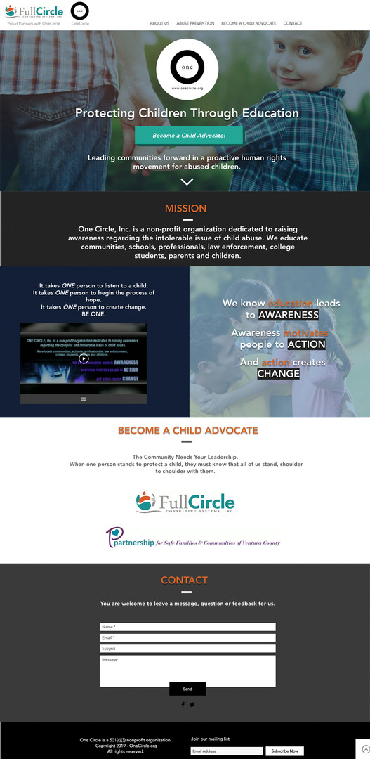 One Circle Website