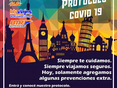 Protocolo Covid 19 para viajes Grupales BTR JUNTOS