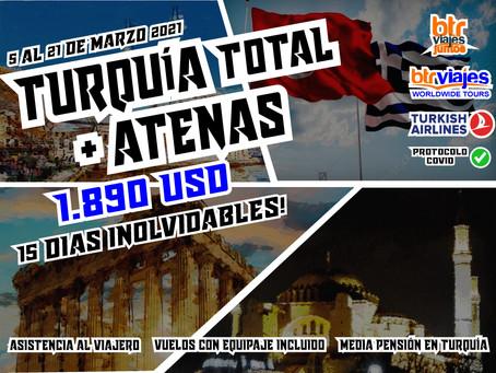 Turquía completa y Atenas - Marzo 2021.