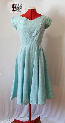 Pale Blue Union Label, Vintage 50's, Dress
