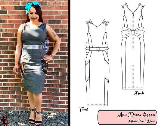 Ava- Sleek Pencil Dress