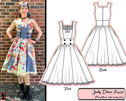 Judy- Fit and flare retro swing dress