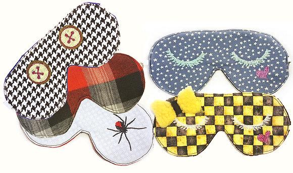 Sleep mask. Custom embroidery.  Collection- Low profile