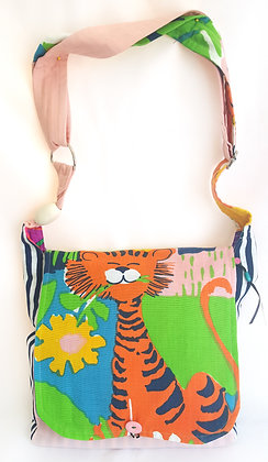 Jungle Juice. Messenger bag with extra long strap. Collection-Joy of Pu