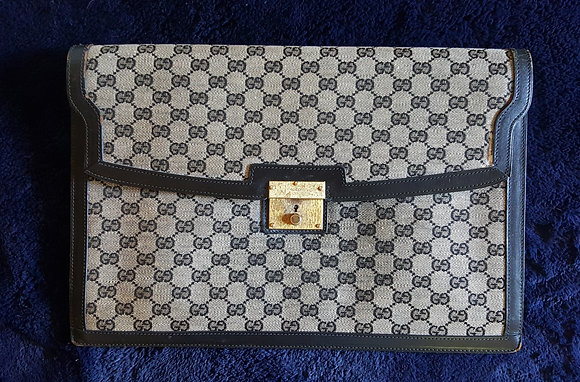 Vintage Gucci Briefcase Clutch