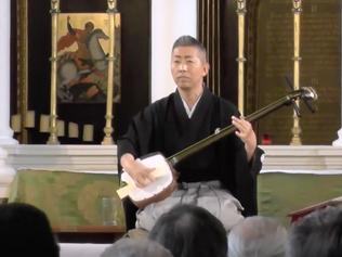 ★動画★五条橋/GOJOBASHI Joruri concert at Grosvenor Chapel in London. -GOJOBASHI- 12 July 2015