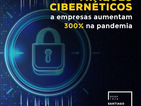 Ataques cibernéticos a empresas aumentam 300% na pandemia