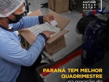 Paraná tem melhor quadrimestre na geração de empregos em 11 anos