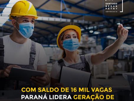 Com saldo de 16 mil vagas, Paraná lidera geração de empregos no Sul