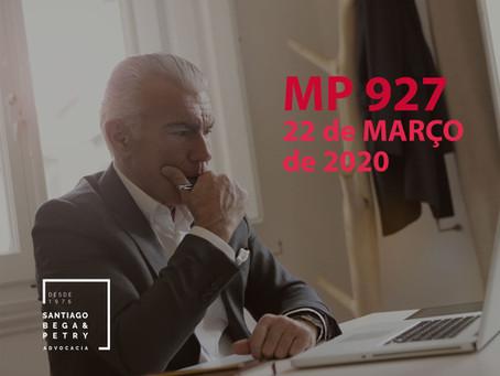 MP 927 - 22 de MARÇO de 2020
