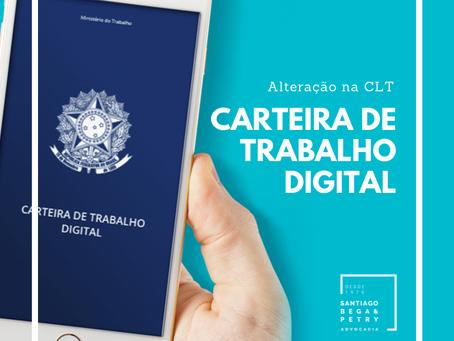 Nova lei permite carteira de trabalho digital