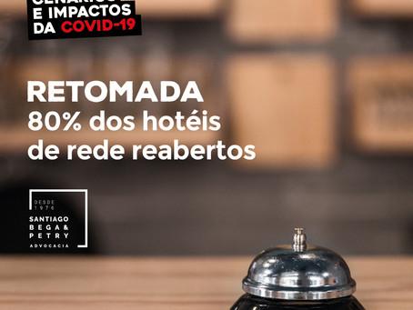Retomada, 80% dos hotéis de rede reabertos