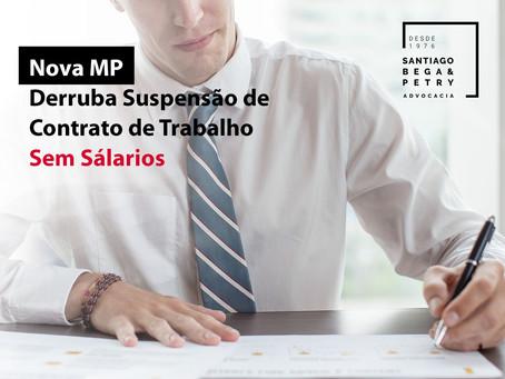 Nova MP derruba suspensão de contratos de trabalho sem salários
